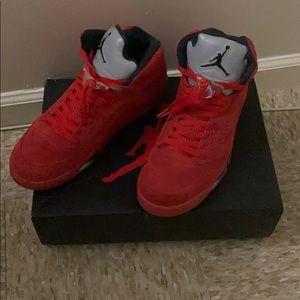 Jordan Retro 5s (Red Suede)